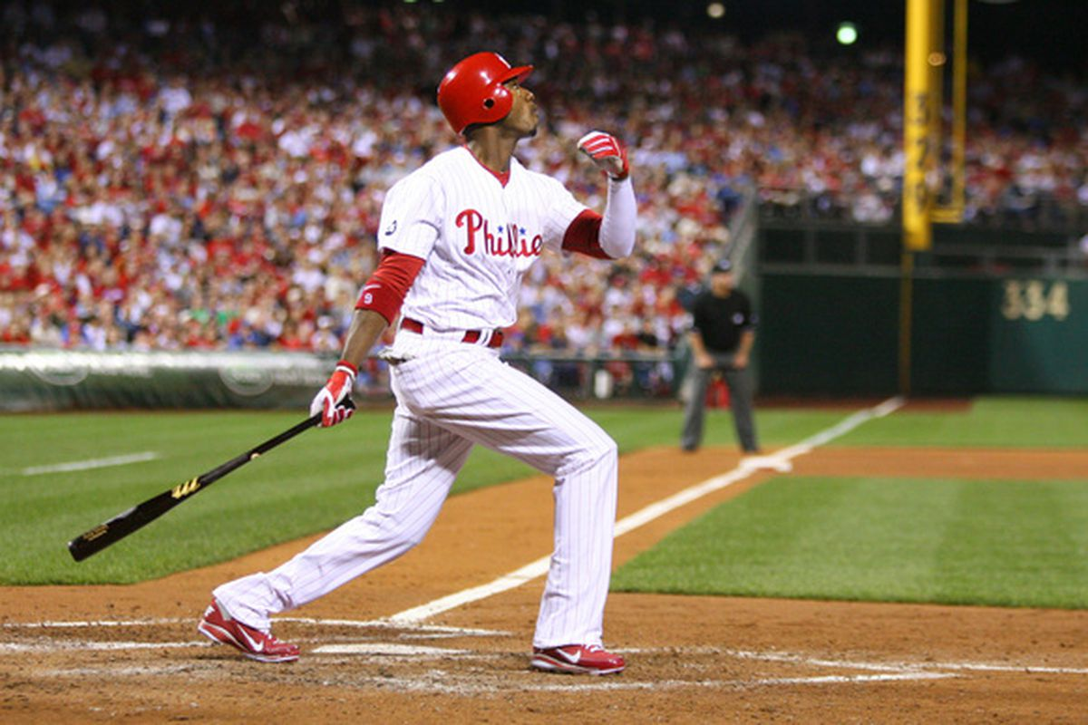 Domonic Brown of the Philadelphia Phillies (Photo by Hunter Martin/Getty Images)
