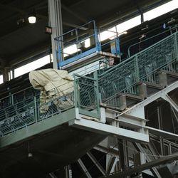 4:03 p.m. Broadcast camera in the left field corner of the upper deck -
