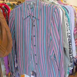 Vintage silk blouse, $25