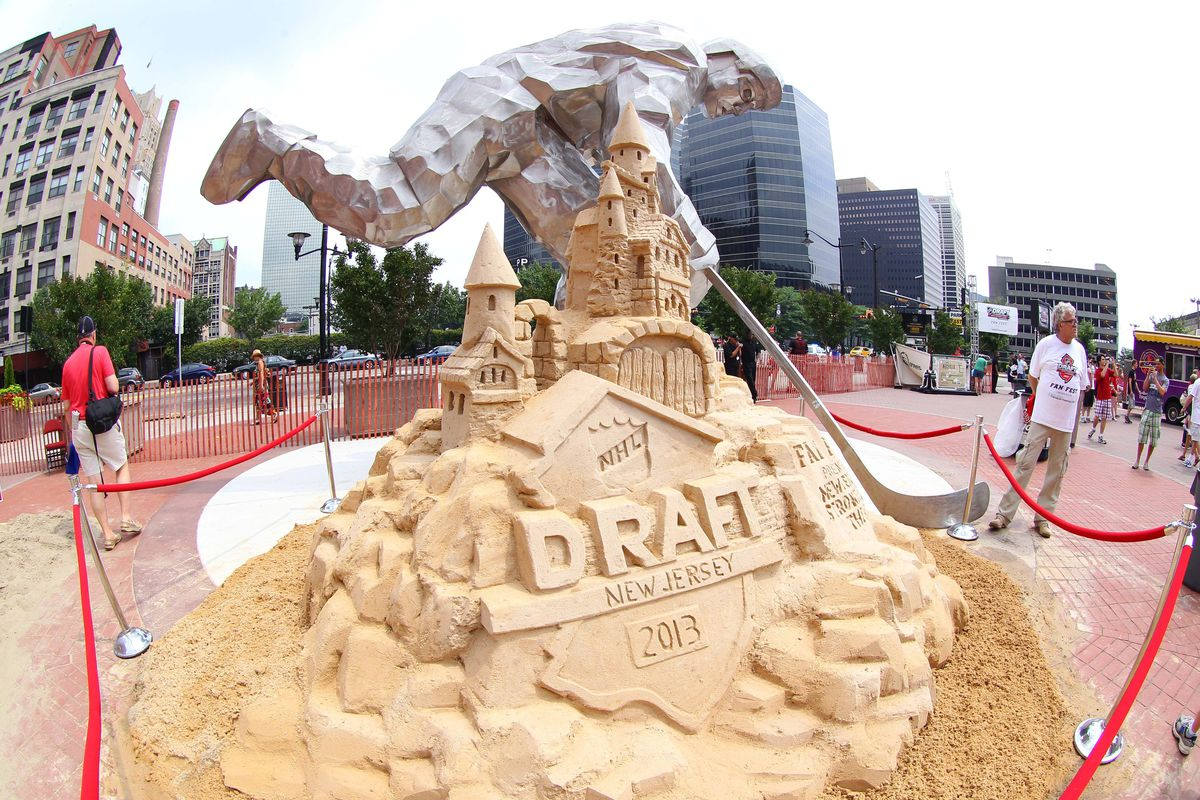 Nothing says hockey like a sand sculpture.