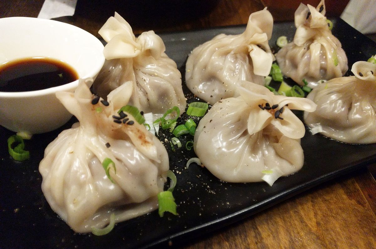 Lamb stuffed shumai dumplings