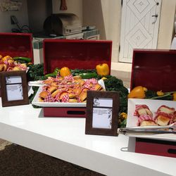 Also in the house at H&M's bash: gourmet treats galore.