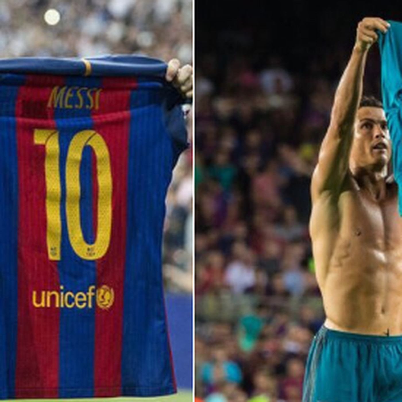 finest selection 0a431 66450 Cristiano Ronaldo mocked Lionel Messi's shirt celebration to ...