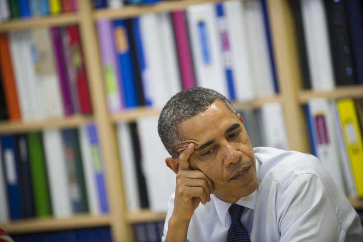 President Obama during a roundtable discussion on the interest rates of federal subsidized student loans in 2012. The Obama administration has expanded programs to make it easier to pay back student loans.