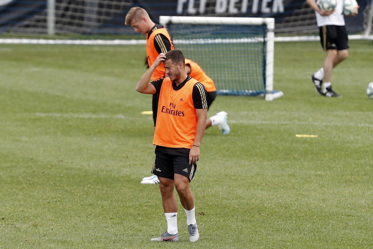 Injury update: Hazard, James and Brahim still not completing training session with Real Madrid squad