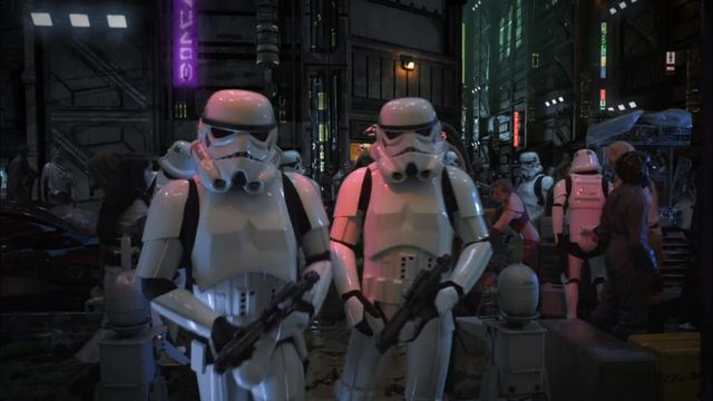 Test footage from Stargate Studios of George Lucas' cancelled Star Wars: Underworld TV series