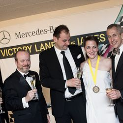 Eleven Madison Park's pastry chef Angela Pinkerton and Danny Meyer.<br /><br />photo copyright Daniel Krieger Photography LLC