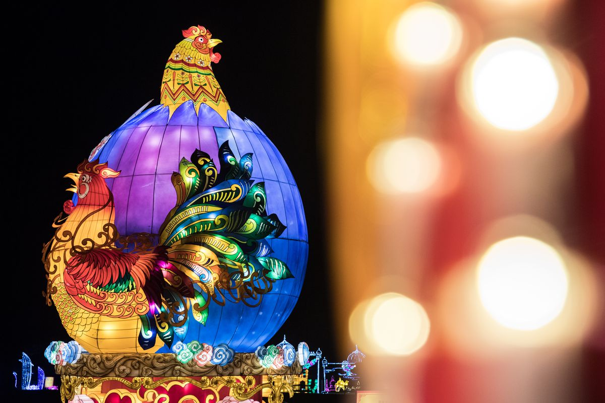 Finishing Touches Are Made To The Magical Lantern Festival