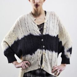 """Washed hand-dyed wool sweater ($198) by <a href=""""http://www.artistsandrevolutionaries.com"""">Artists & Revolutionaries</a>"""
