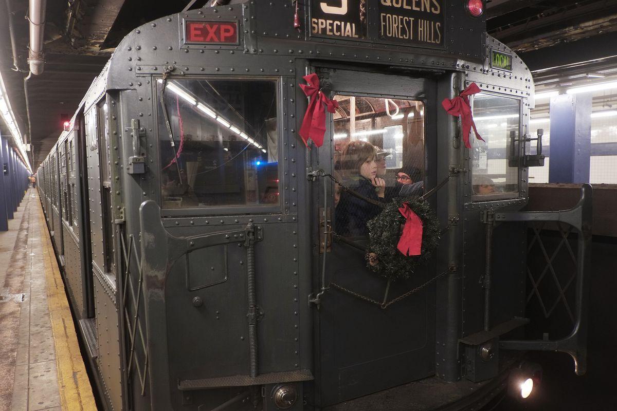 NYC Subway 'Nostalgia' Train Makes Annual Holiday Runs