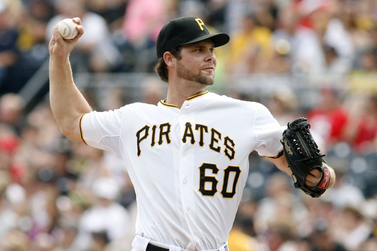 September 3, 2012; Pittsburgh, PA, USA; Pittsburgh Pirates relief pitcher Kyle McPherson (60) pitches against the Houston Astros during the sixth inning at PNC Park. The Houston Astros won 5-1. Mandatory Credit: Charles LeClaire-US PRESSWIRE