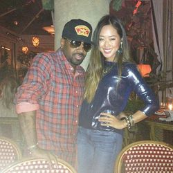 """Jermaine Dupri and Aimee Song [Photo via <a href=""""http://instagram.com/p/S7QuDhHjxB/"""">@SongofStyle</a>]"""