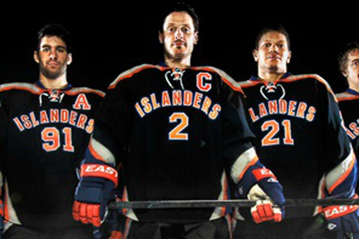 The promo on the New York Islanders site announcing their new third jerseys.