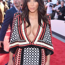 Kim Kardashian in the closest to a poncho she'll ever get.