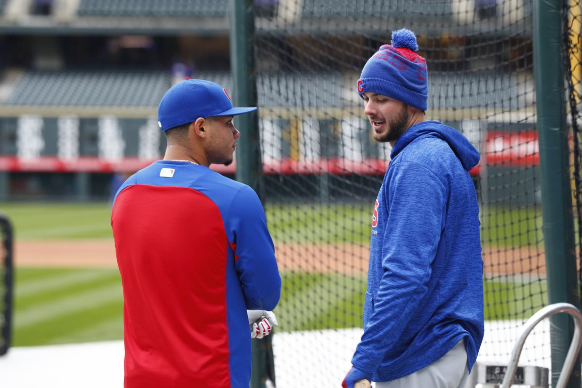 Cold winter for Willson Contreras (left) and Kris Bryant?