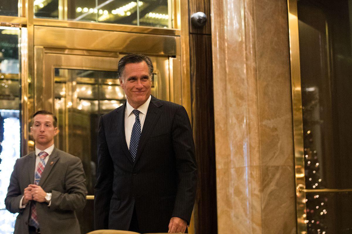 Mitt Romney in Trump Tower in November 2016.
