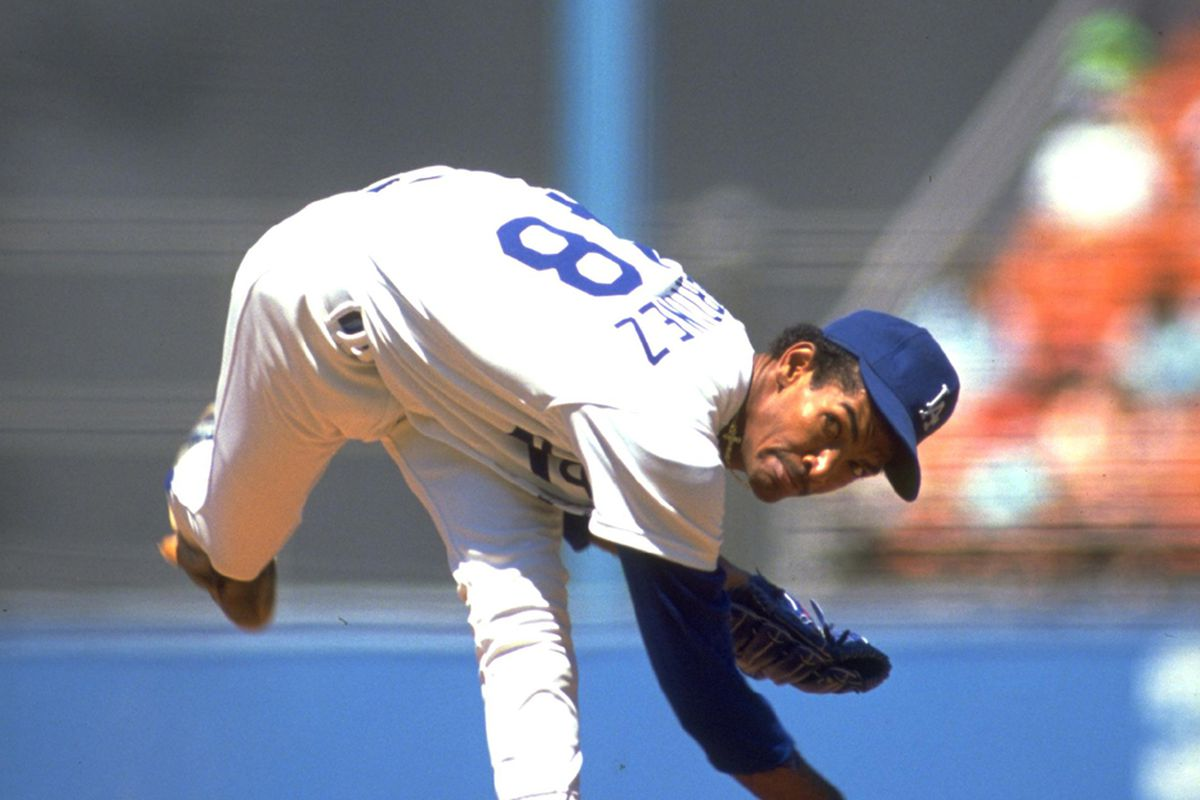 Ramon Martinez was the last Dodgers pitcher to win 20 games before Clayton Kershaw did so in 2011. Martinez was also the last Dodger to finish second in the National League Cy Young Award voting, in 1990. (<em>Getty Images</em>)