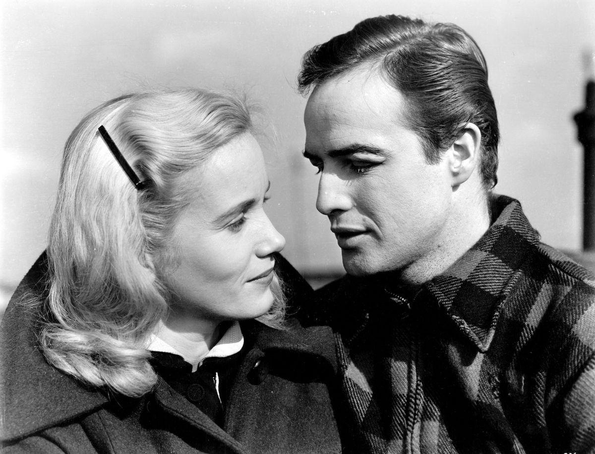 Eva Marie Saint and Marlon Brando in On The Waterfront.