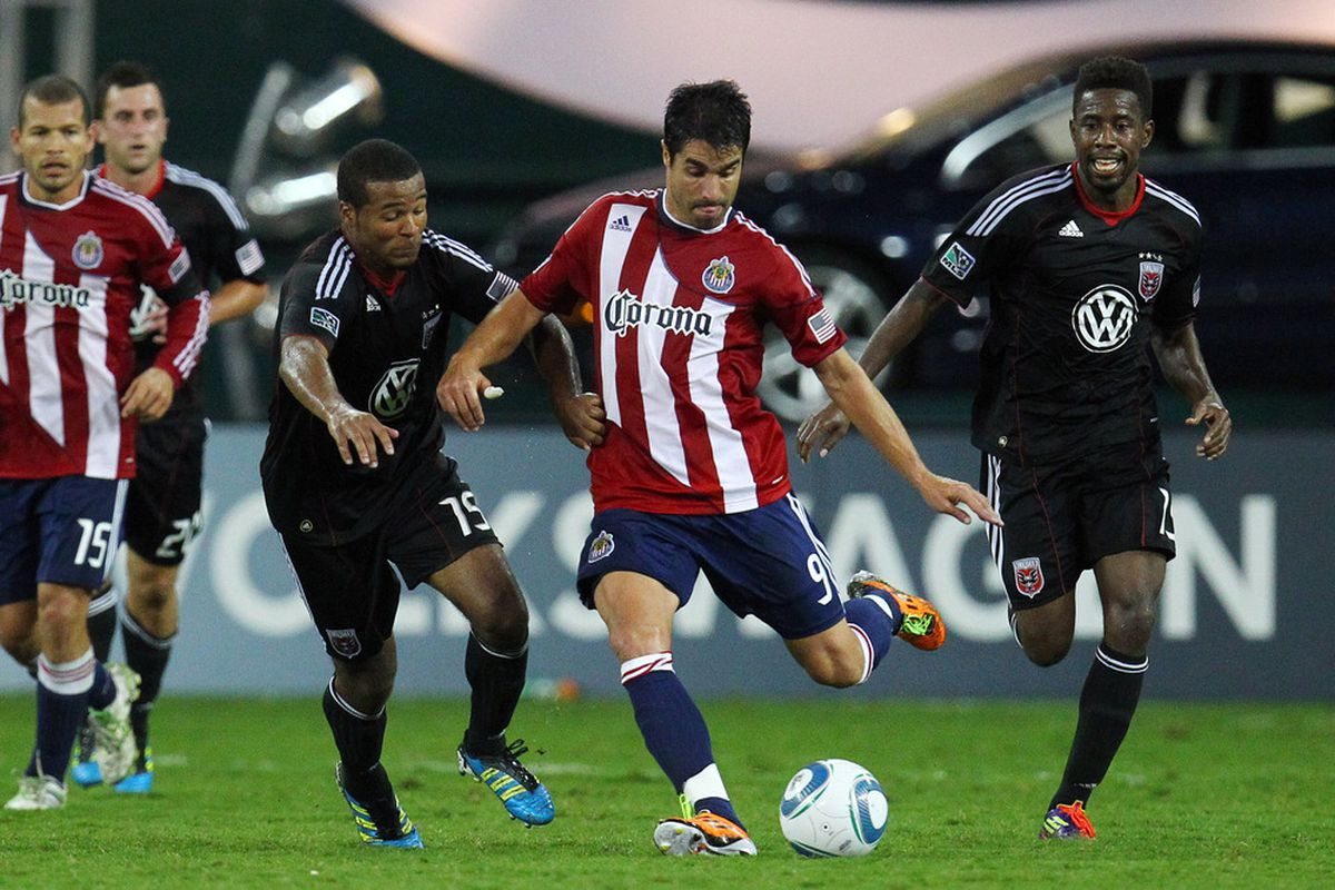 WASHINGTON, DC - SEPTEMBER 21: JPA: Got the goals for Chivas in 2011. (Photo by Ned Dishman/Getty Images)