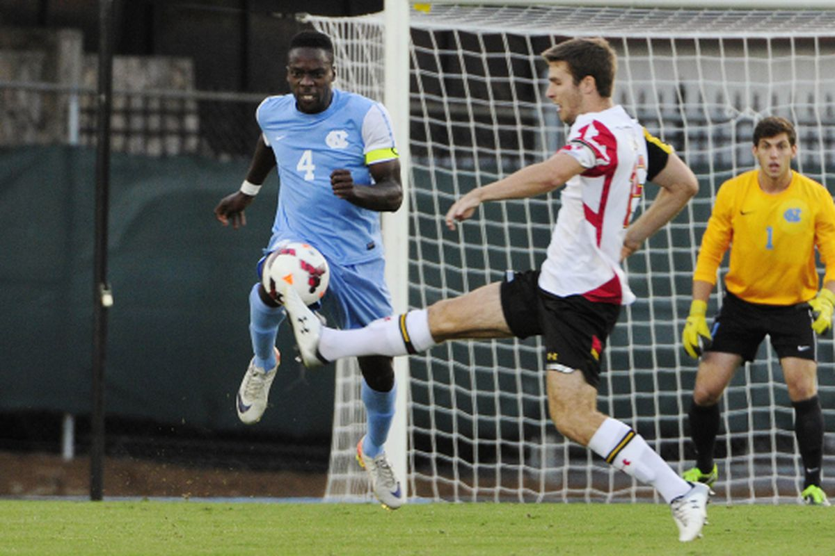 Boyd Okwuono helped contribute in the 2-2 draw to Maryland.