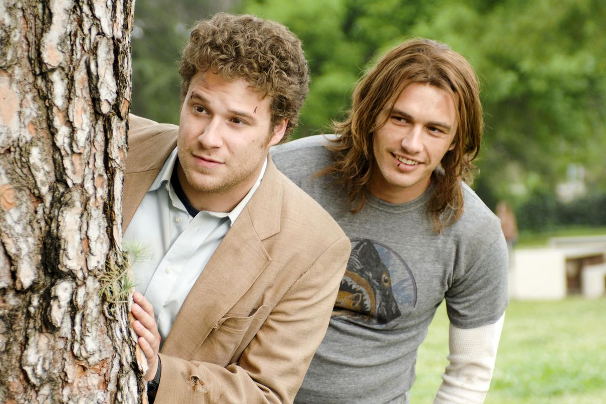 Seth Rogen and James Franco in Pineapple Express.