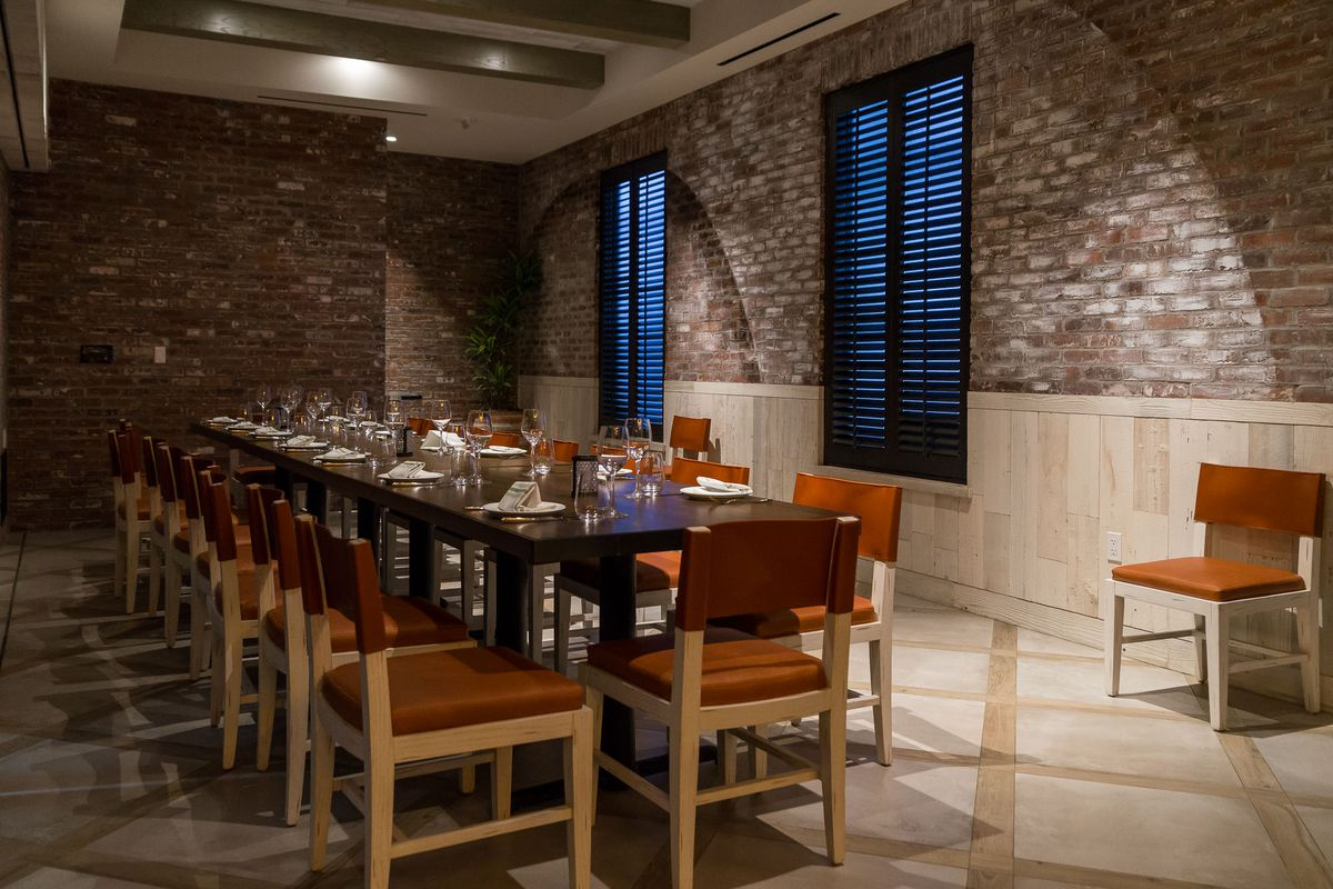 The private dining room at Catch