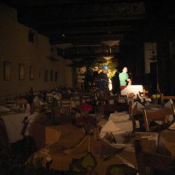 """The dining room looks mostly untouched by the fire via <a href=""""http://www.flickr.com/photos/alectabak/6228782866/"""">Alec Tabak</a>"""