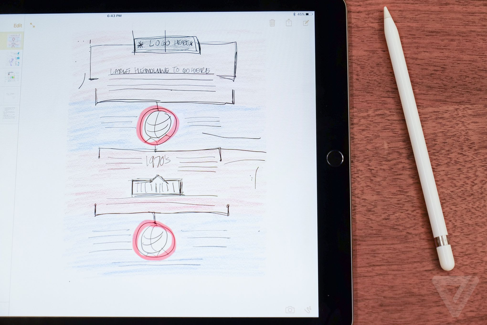 Architecture Drawing Ipad a designer's take on the ipad pro | the verge