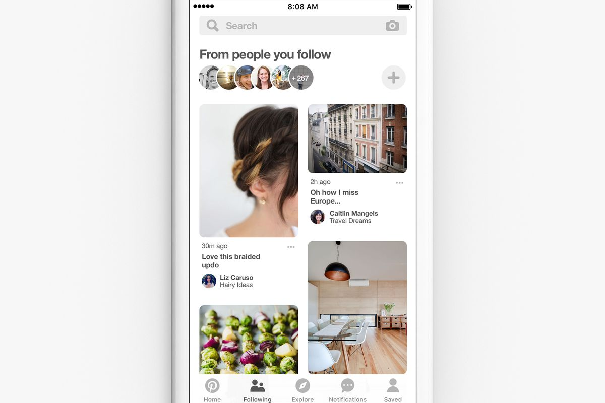 Pinterest's new feed has just your friends' pins, and no algorithmic  recommendations