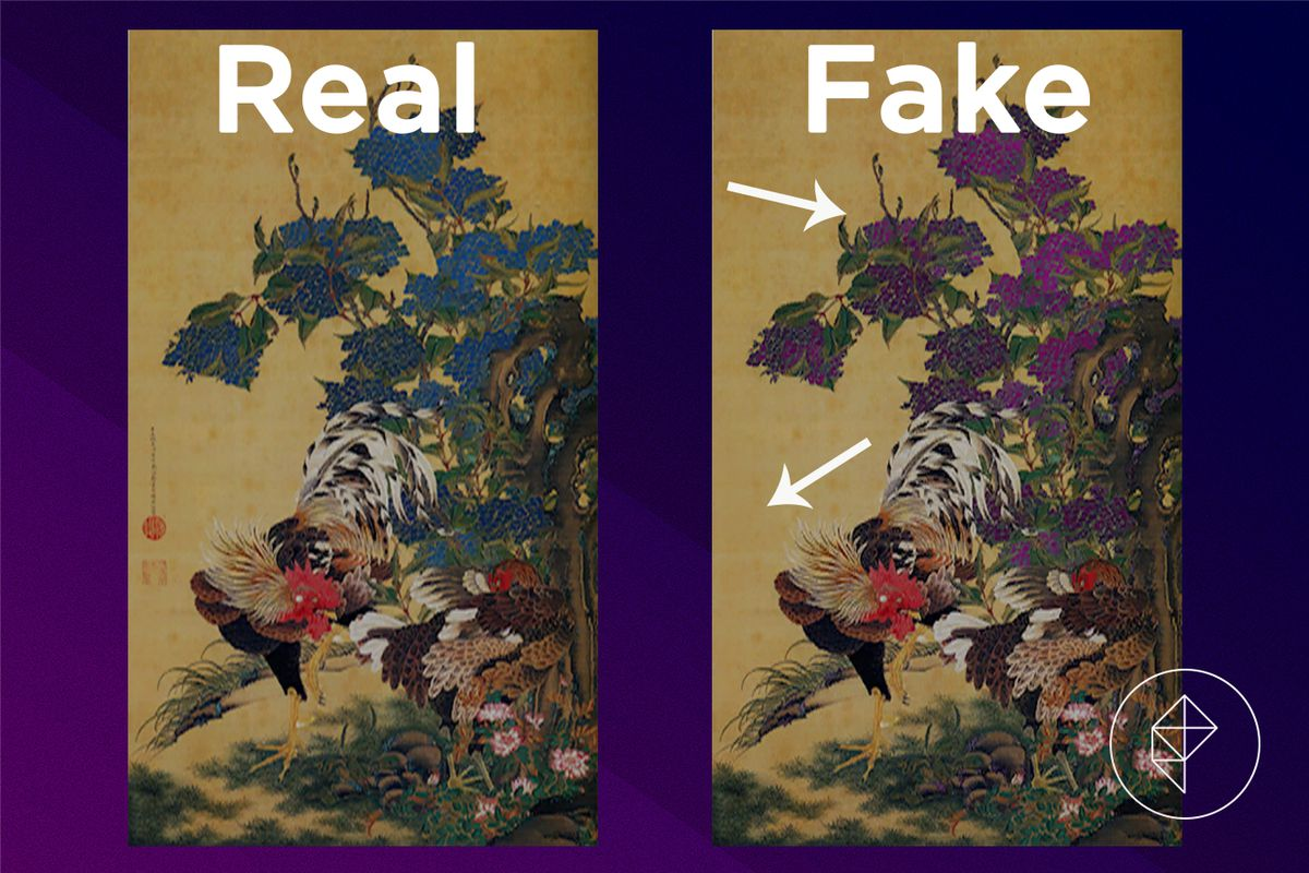A comparison of the real and fake Detailed Painting