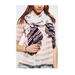 """<a href=""""http://www.urbanoutfitters.com/urban/catalog/productdetail.jsp?id=27971712&parentid=W_ACC_SCARVES"""">Urban Outfitters Anchors Aweigh Oversized Scarf</a>, $24"""