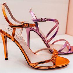 Brigitte sandal, $355; Jill sandal, $345