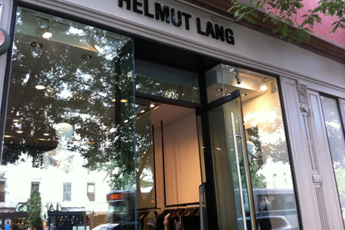 """Helmut Lang on Columbus via <a href=""""http://myfiveblocks.com/2011/09/08/helmut-lang-moves-into-former-theory-space-on-columbus-ave/"""">My five blocks</a>"""