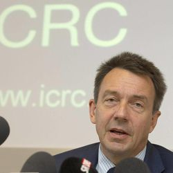 Switzerlands Peter Maurer, president of the International Committee of the Red Cross, ICRC, briefs the media after his mission to Syria, during a press conference at the ICRC headquarters in Geneva, Switzerland, Friday, Sept. 7, 2012. Maurer says he had `positive' talks with Syrian president on detainees and aid.