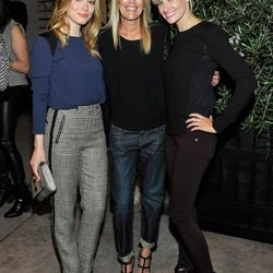 Stacey Todd owner Stacey Feldman (center) with starlets Gillian Jacobs and Beth Behrs.