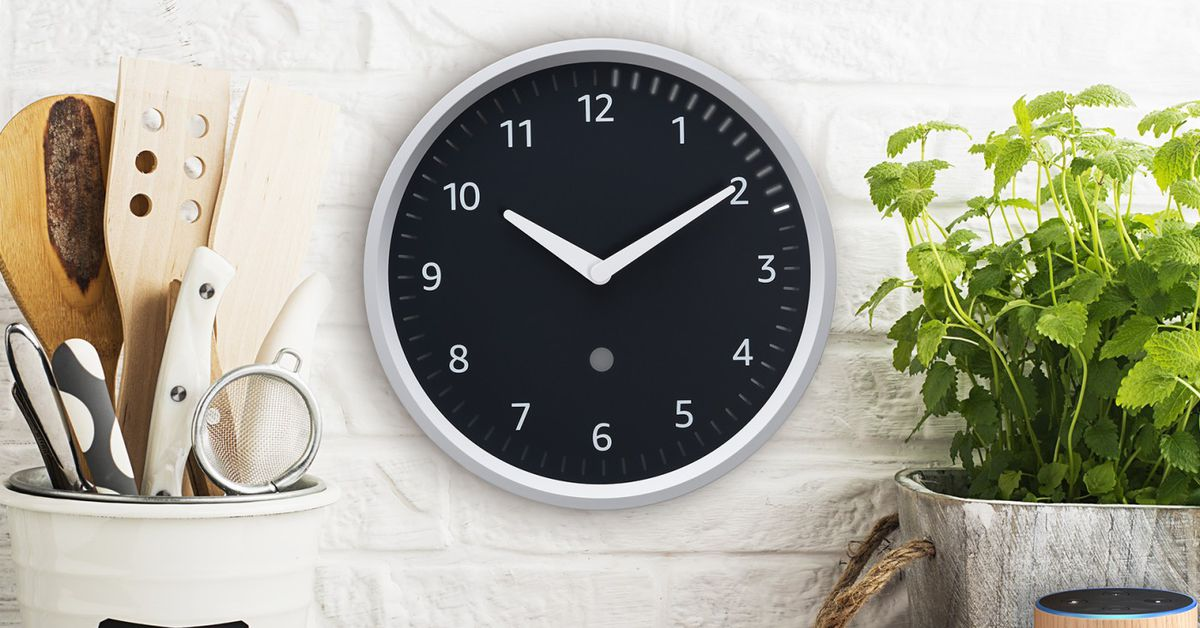 Amazon S Echo Wall Clock Is A Physical Display For Your