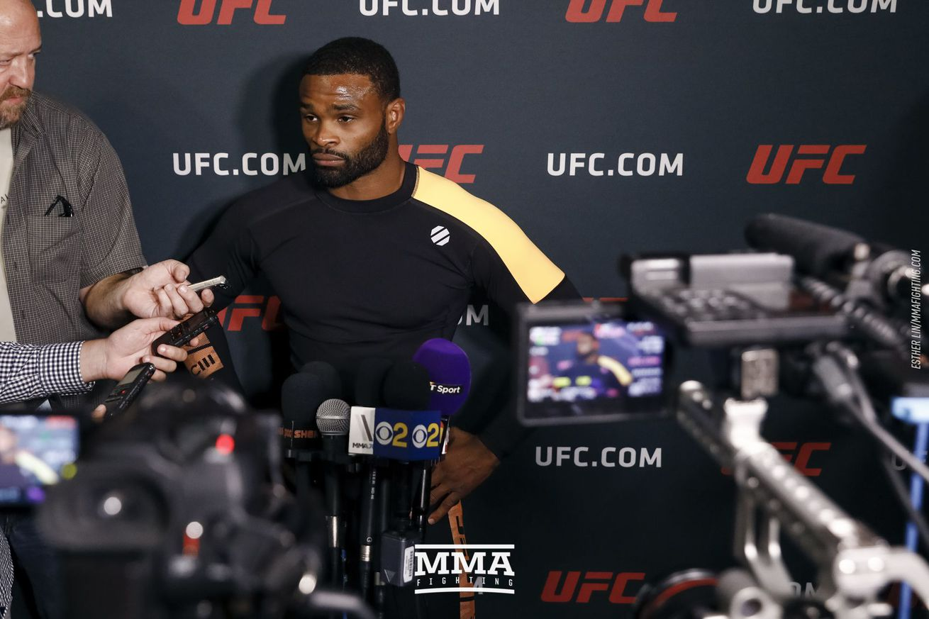 Tyron Woodley UFC 214 open workout media scrum