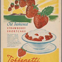 "Toffenetti Strawberry shortcake ad via <a href=""http://menus.nypl.org/menu_pages/58657"">NYPL Menu Archives</a>."