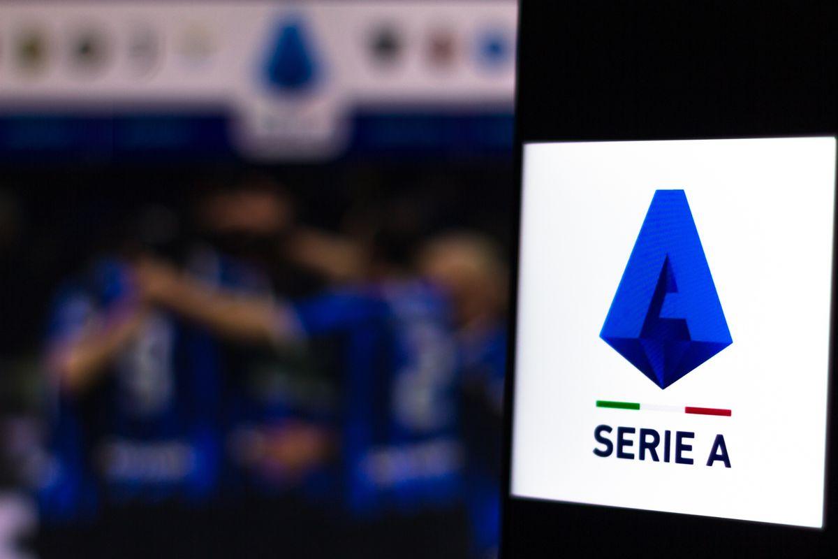 In this photo illustration a Lega Nazionale Professionisti...