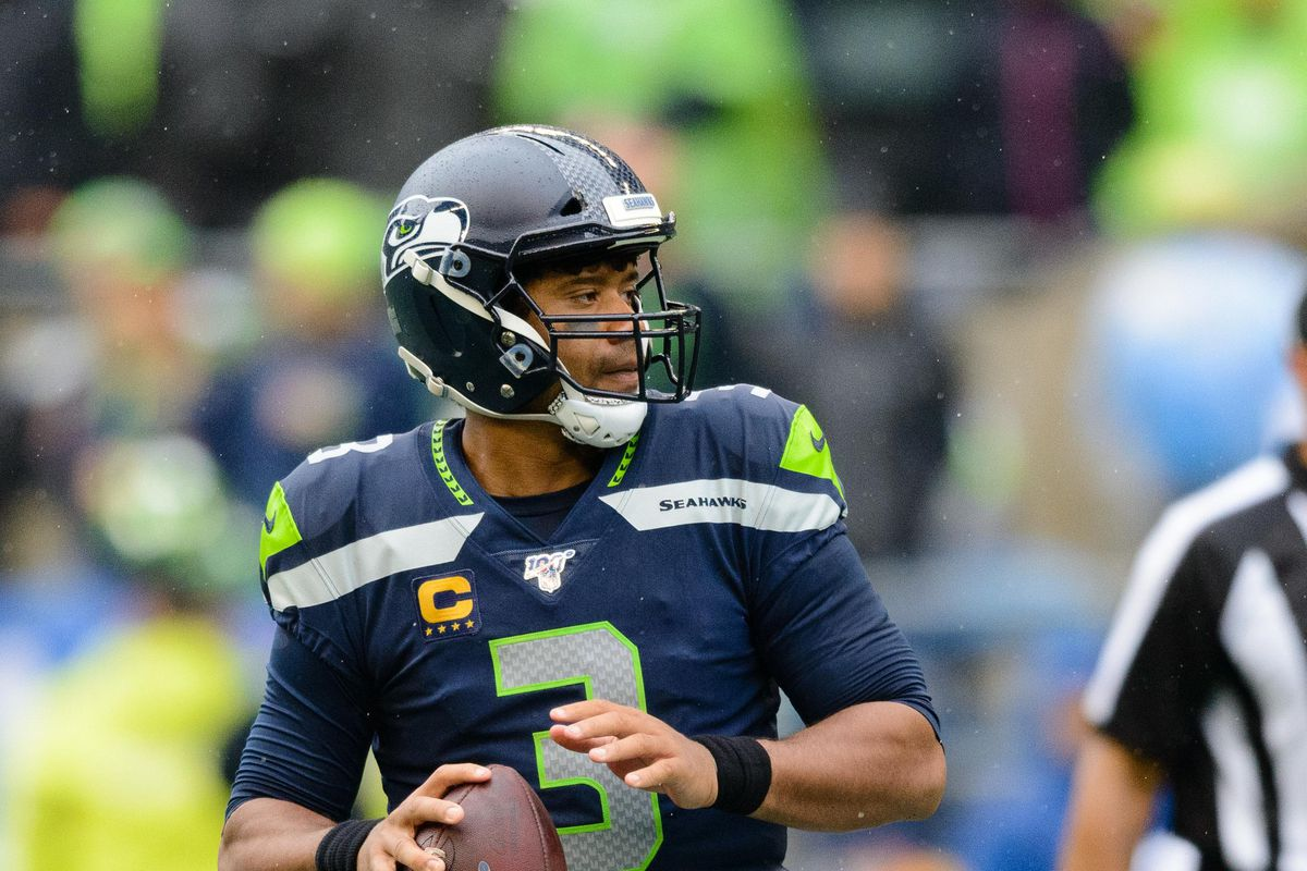 Seattle Seahawks quarterback Russell Wilson during the second half at CenturyLink Field against the New Orleans Saints.