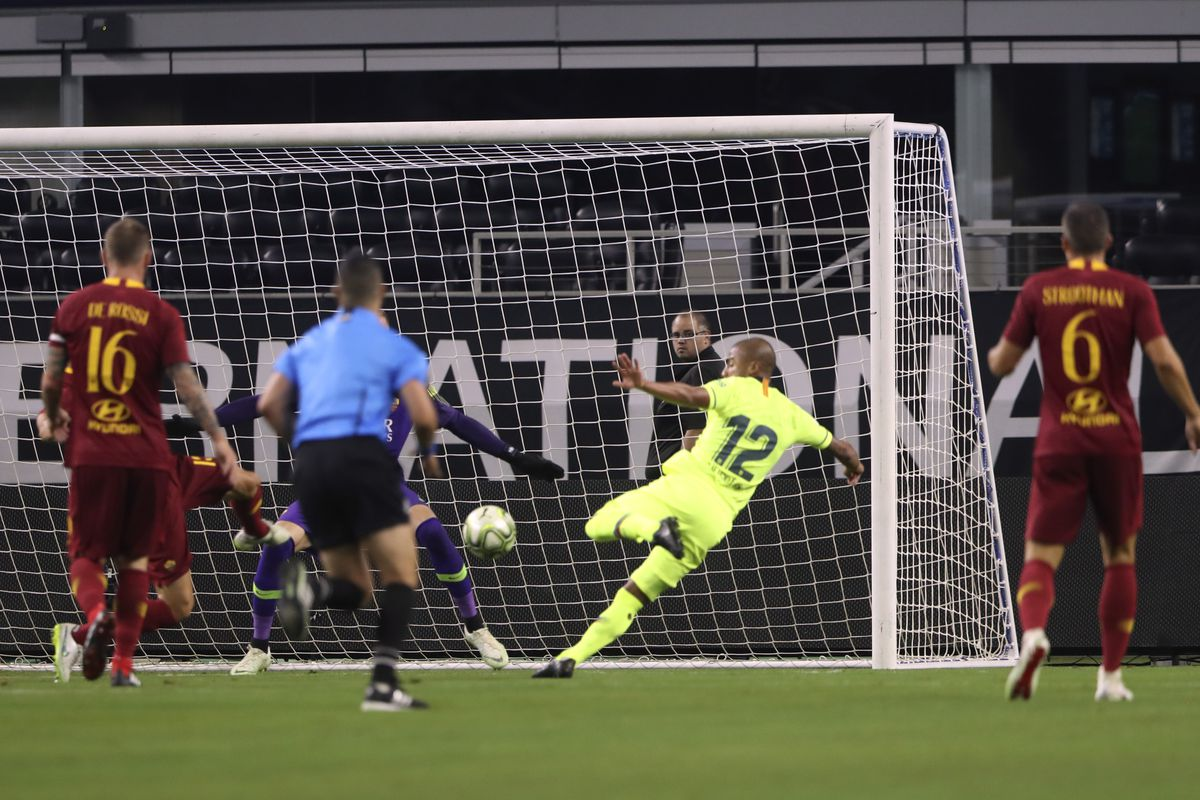 Soccer: International Champions Cup-FC Barcelona at AS Roma