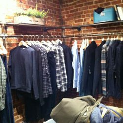 The menswear section