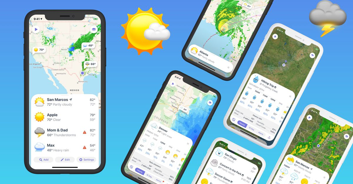 Weather Up syncs with your calendar to show event forecasts