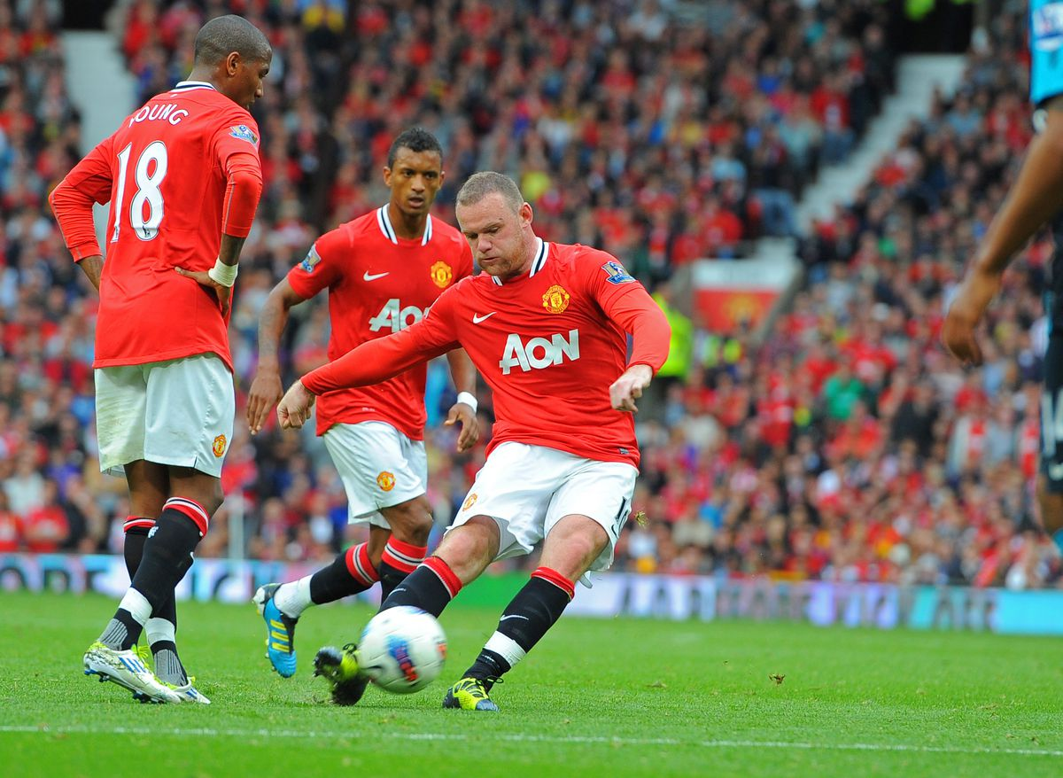 Manchester United's English striker Wayn