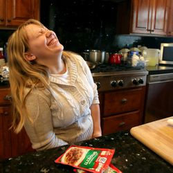 Annalise Simmons jokes around at home in Kamas on Saturday, Aug. 24, 2013. Annalise was adopted from Russia.