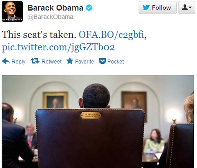Barack Obama seat taken