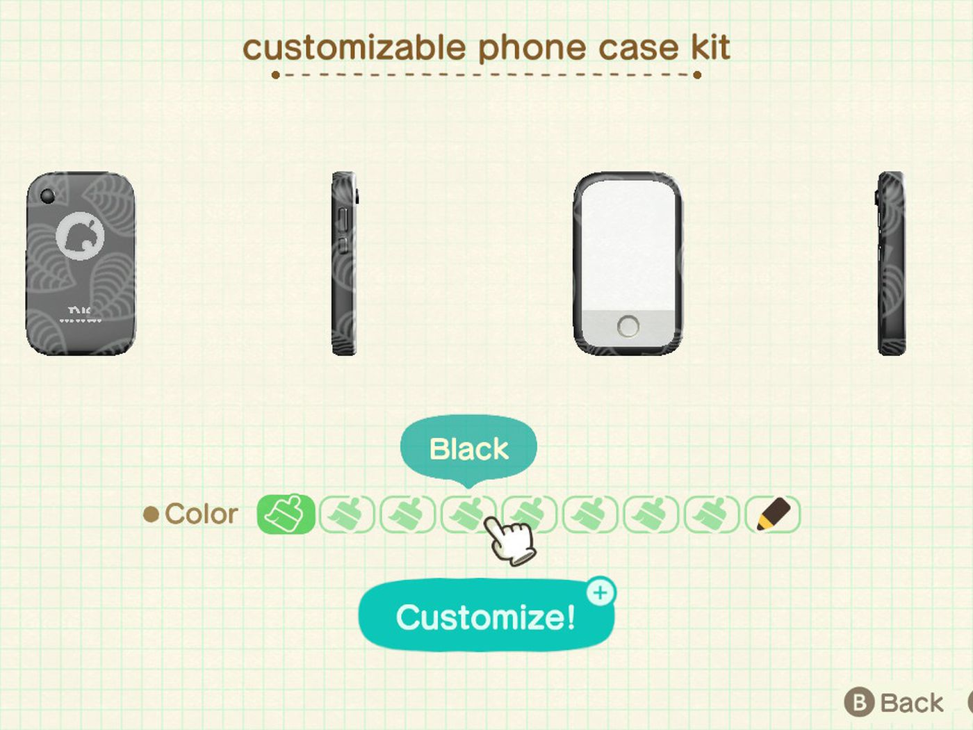 How To Use The Customizable Phone Case Kit In Animal Crossing New Horizons Switch Polygon