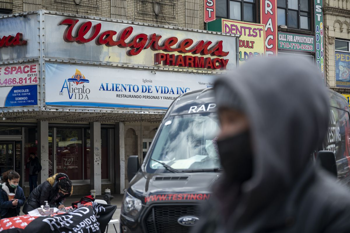 The Walgreens at 10314 Roosevelt Ave currently serves as a vaccination site.