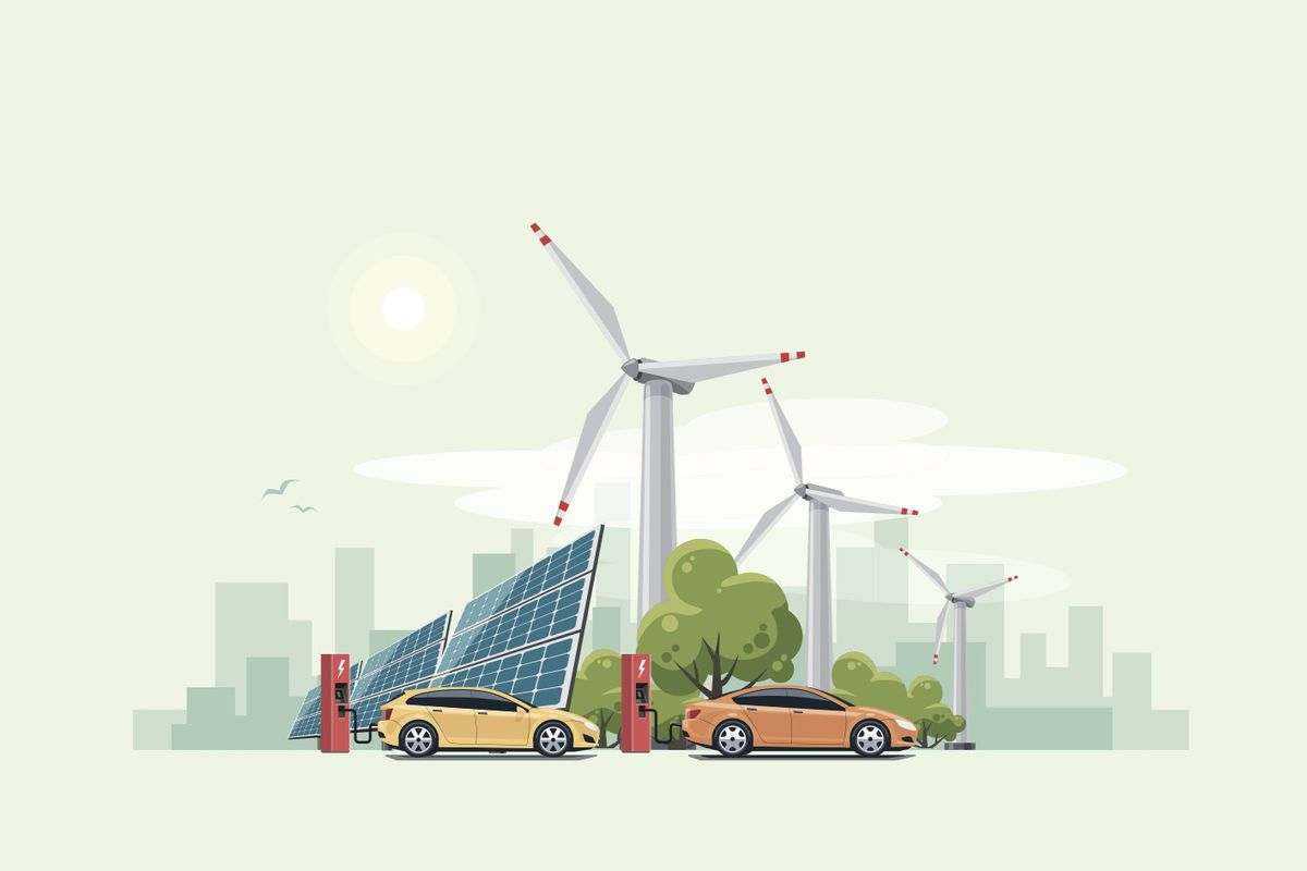 Green energy cities