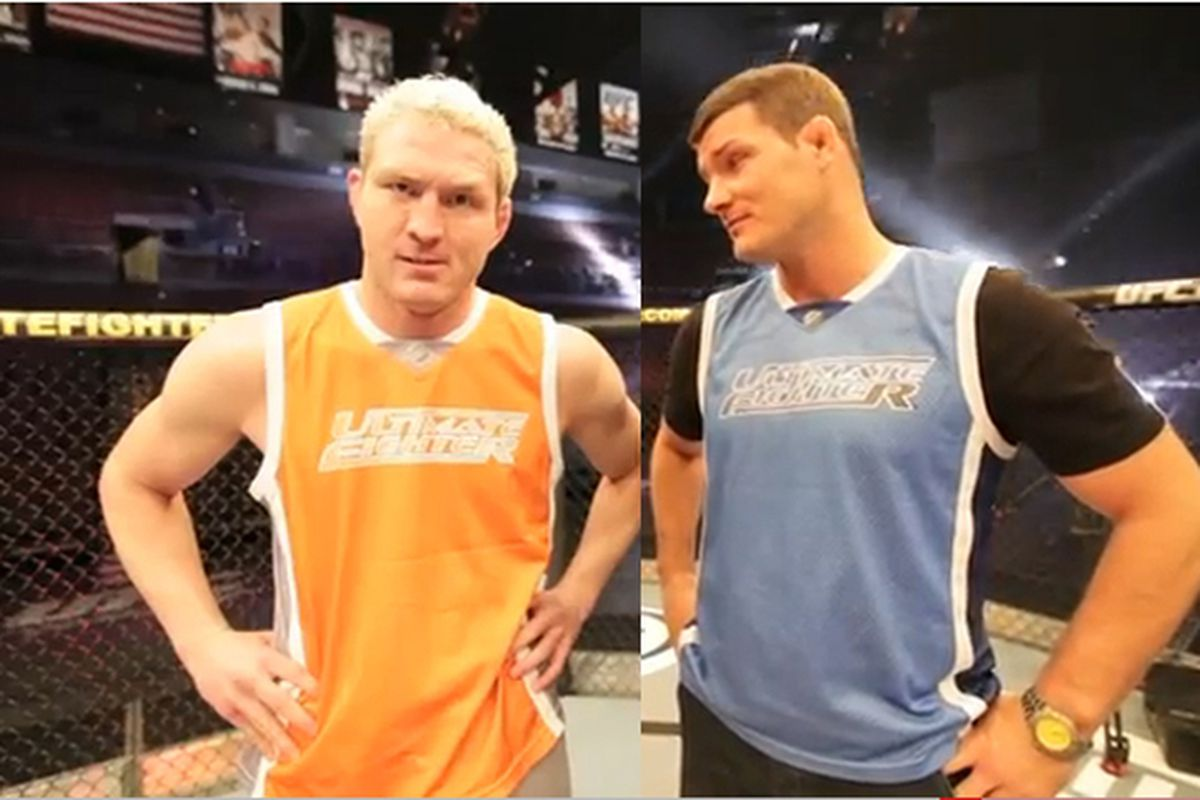 The Ultimate Fighter 14 coaches, Jason Miller and Michael Bisping.